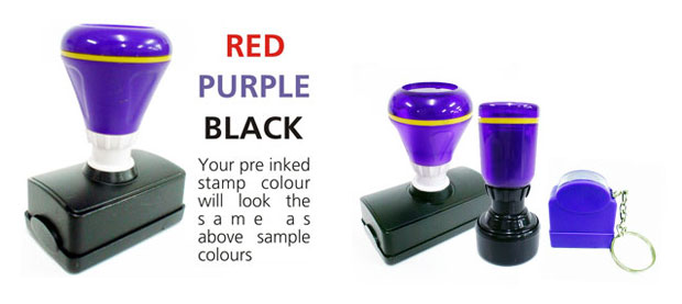 PRE-INKED STAMP
